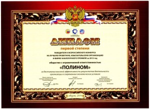 10th All-Russian contest for the title of the best design, survey or similar profile organization of 2013